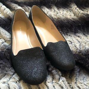 Nine West Black Glitter Loafers